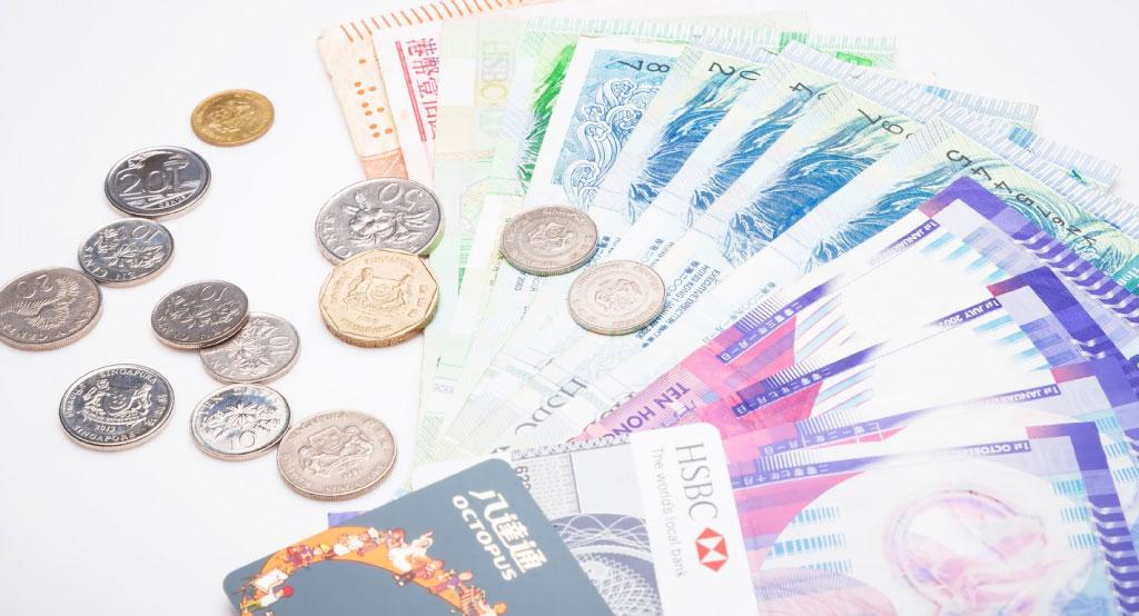 外貨紙幣と硬化